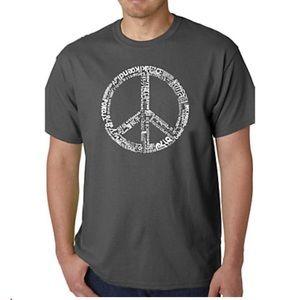 NEW Graphic LA pop art peace T-shirt unisex